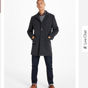 Express mens wool blend top coat